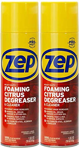 Zep Heavy-Duty Foaming Degreaser ZUHFD18 (2-Pack) - Clings to Surfaces to Remove Grease and Grime