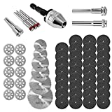 60Pcs Rotary Cutting Wheels Tool Kit, Resin Cut Off Wheels Disc, Mini HSS Saw Blades Cutter, Diamond Cutting Kit with Mandrels for Wood Glass Plastic Stone Metal