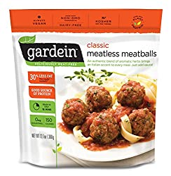 Gardein Classic Meatless Meatballs, Protein Packed Goodness, Ready in 8 Minutes, 12.7 Ounce (Frozen)