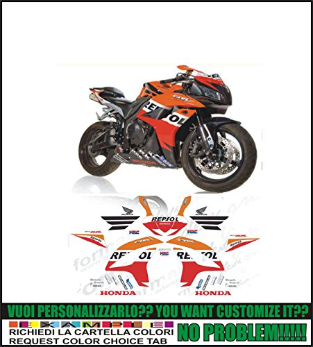 GRAPHICSMOTO h428 Kit adesivi decal stickers HONDA CBR 600 RR REPSOL 2007 (ability to customize the colors)