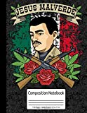 Mexican Hero Mexico Jesus Malverde Composition Notebook 110 Pages Wide Ruled 8.5 x 11 in: Jesus Malverde Gifts Women Men