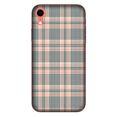 Generico Cover Apple iPhone XR Scozzese Verde Rosa/Custodia Stampa Anche sui Lati/Case Anticaduta Antiscivolo AntiGraffio Antiurto Protettiva Rigida