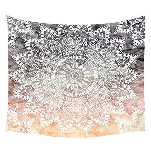 Bishilin Tapiz Pared, Tapiz De Mandala Blanco Tapiz Yoga Pared, Tapiz, paño de Pared, tapicería, Colcha, 150x200CM