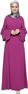 Kaftan Dresses for Women,Muslim Women Islamic Pure Color Plus Size Middle East Long Dress