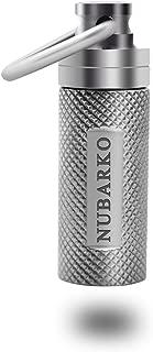 NUBARKO Mini Pill Fob, Titanium Keychain Pill Holder, Emergency Aspirin & Nitroglycerin Pill Holder for Men and Women, Waterproof, Light Weight and Non Allergenic