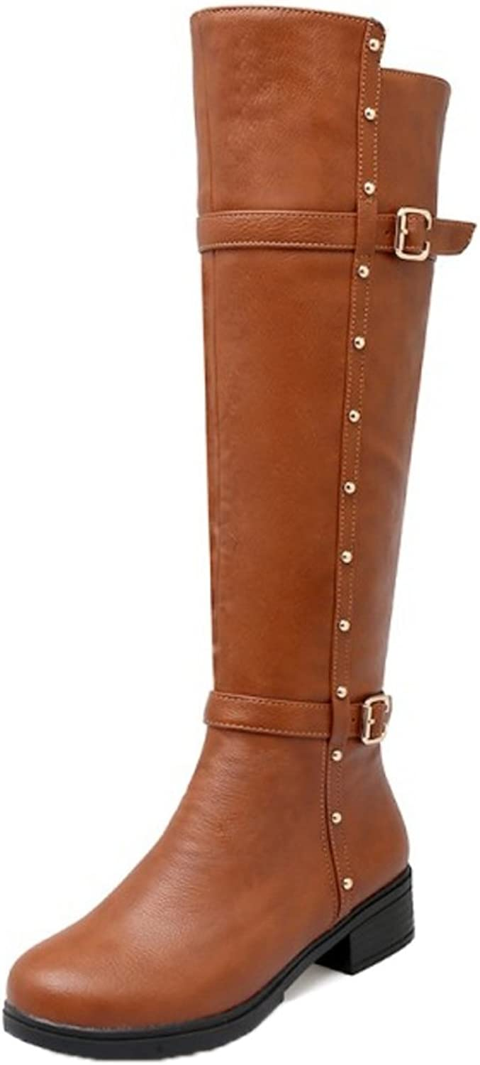 AicciAizzi Women Fashion Riding Boots Zipper
