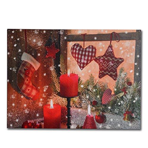 NIKKY HOME Deko beleuchtet Weihnachten Strümpfe Wall Art Poster Prints LED Leinwand Drucke