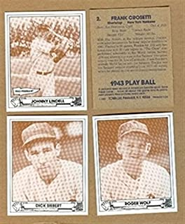 1943 Play Ball 1983 TCMA Cincinnati Reds Team Set 3 Cards MINT
