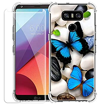 SHUMEI Phone Case for LG G6 with Screen Protector,Clear Soft TPU Bumper Protective Cover Creative Personality Design