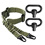 SMALLRT 2 Point Sling Quick Adjust with 2 Pack QD Sling Swivels Mount, Quick Release Push Button Sling Attachment Point, Sling Mount is not Included