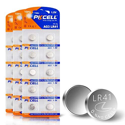LR41 Battery AG3 L736 LR736 SR41 192 384 392 1.5V Alkaline Battery for Thermometer 30pcs