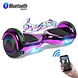 CBD 6.5' Hoverboard with Bluetooth Speaker, Self Balancing Hoverboard for Kids with LED Lights, UL 2272 Certified, Chrome Purple