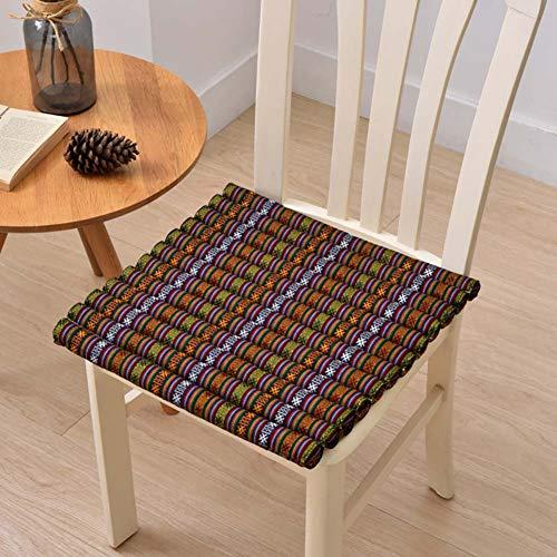 XNDCYX Sitzkissen Stuhlkissen, Sitzkissen Quadratisch, Mit Dicker Polsterung Hochwertige Qualitäts Polsterauflage, Dining Garden Chair Seat Pad, 40X40 cm,2 Pack