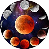 Round Puzzle 1000 Pieces for Adults(Moon Phase),Difficult Jigsaw Puzzle Brain Developing Educational Toy Gift,Lunar Eclipse Cool Large Puzzle as Wall Art 27x27 in