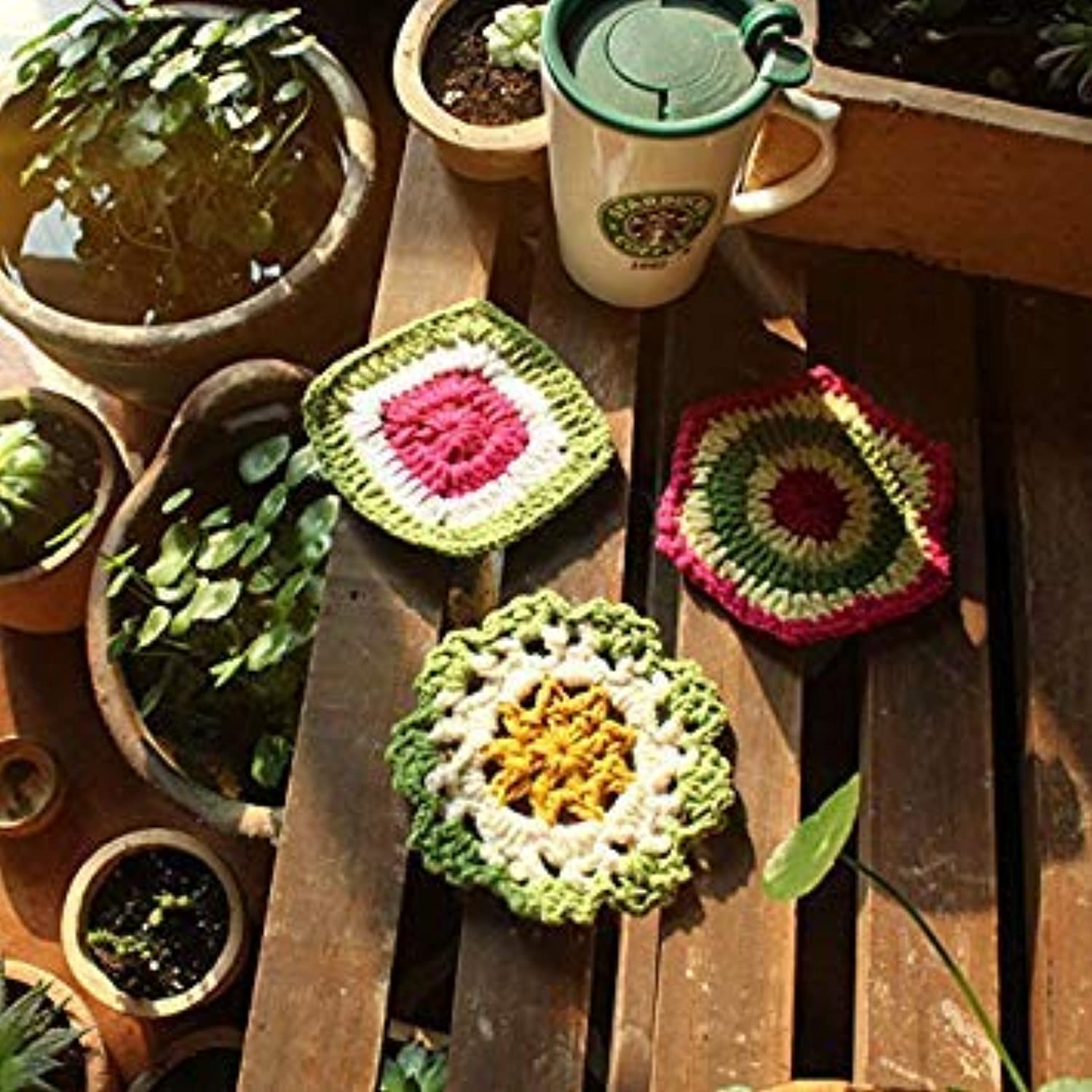 Good Quality Crocheted Coasters,Country Style Teapot mat,Insulation Pads, Potholder 3pcs lot