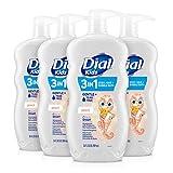 Dial Kids 3-in-1 Body+Hair Wash, Peach, 24 fl oz (Pack of 4)