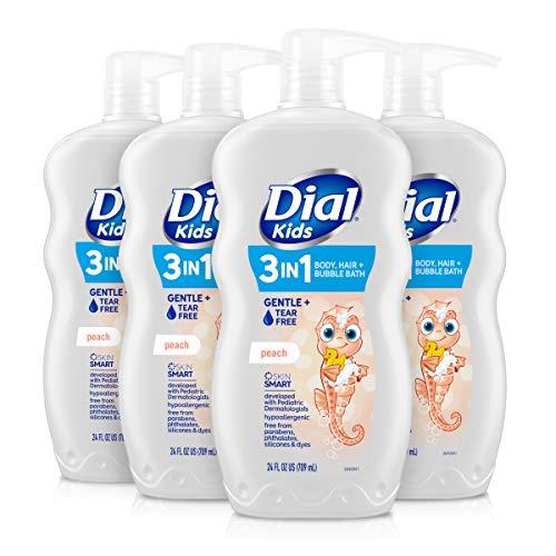 Dial Kids 2-in-1 Body+Hair Wash, Peach, 24 fl oz (Pack of 4)
