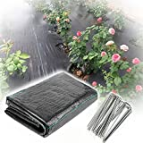 XUEXUE Weed Barrier Fabric, Water Permeable and Tearproof Landscape Ground Cover Membrane, Ideal for Garden, Flower Beds (Color : Black, Size : 2X20M)