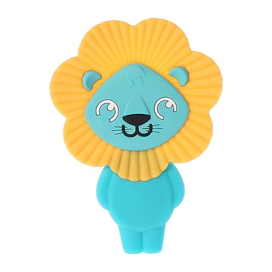 防止すぐにりLanddumシリコーンおしゃぶりかわいいライオンのおしゃぶり赤ちゃん看護玩具かむ玩具歯が生えるガラガラ玩具