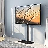 FITUEYES テレビスタンド 壁寄せテレビスタンド 高さ調節可能 ラック回転可能 ブラック TT107501MB 1段式