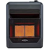 Bluegrass Living B18TPIR-BB Propane Vent Free Infrared Gas Space Heater with Blower and Base Feet-18,000, T-Stat Control, 20,000 BTU, Black