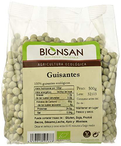 Bionsan Guisantes Ecológicos - 6 Bolsas de 500 gr - Total: 3000 gr