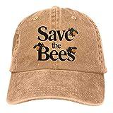 Optional Save The Bees Gorra de béisbol para hombre y mujer, ajustable, para...