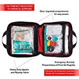 First Aid Kit for Car, Home, Traveling, Camping, Office or Sports | 200 Pieces Bag Equipped with Medical Supplies for Emergency and Survival