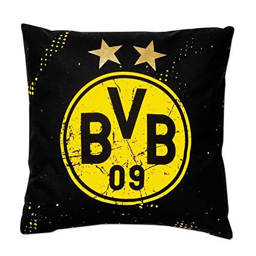 Borussia Dortmund, BVB-Kissen Sterne, Schwarz Gelb, 40x40cm