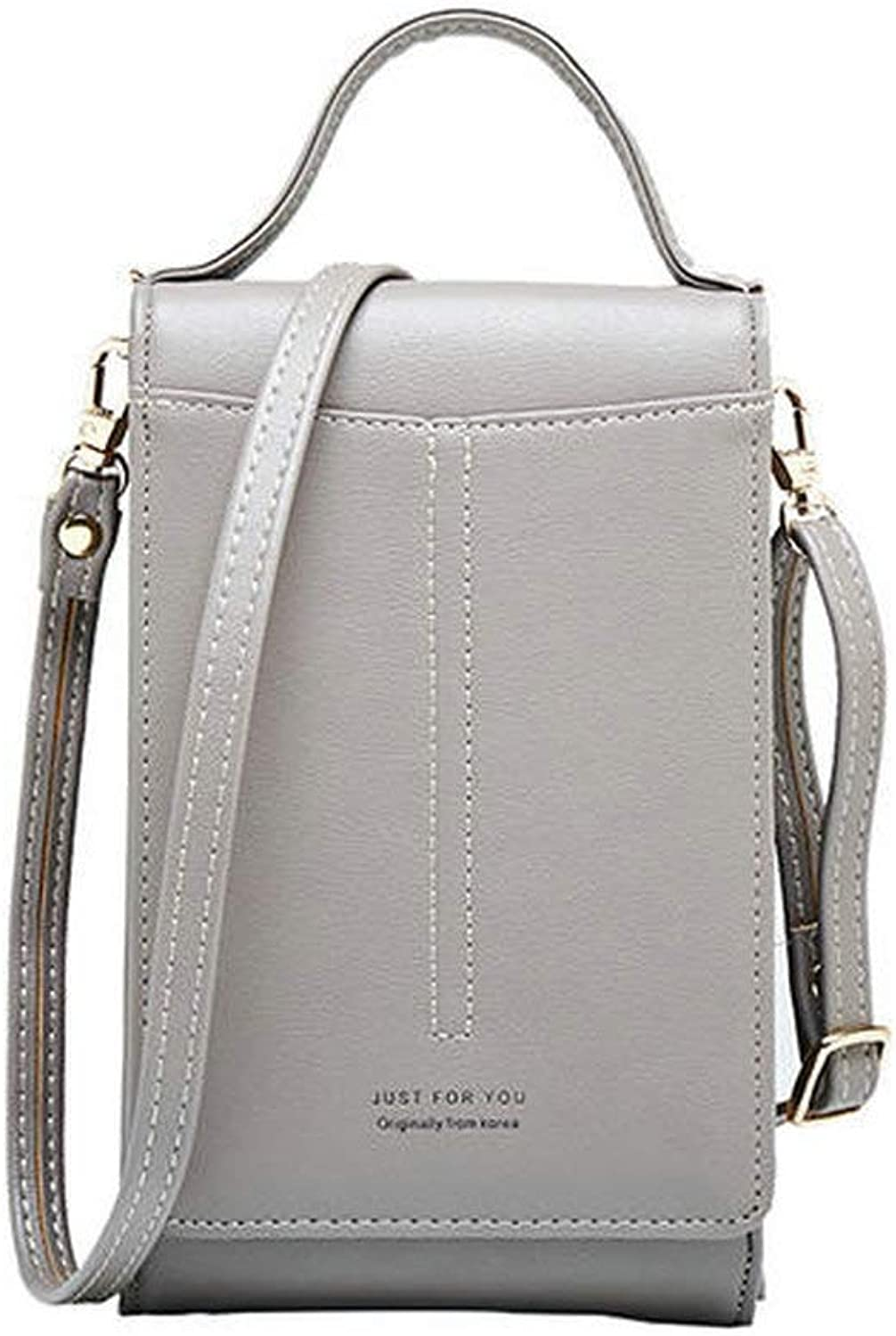 ACHKL Women Portable Multifunction Phone Bag for 6 Inches Cellphone Crossbody Bag Wallet ACHKL (color   color Grey, Size   OneSize)