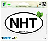 NHT Nahant MA Oval Car Sticker Indoor Outdoor 5