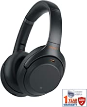 Sony WH1000XM3/B Premium Noise Cancelling Wireless Headphones w/Microphone (Black) + 1 Year Extended Warranty