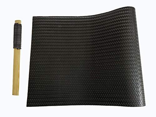 Shoe Sole Repair Rubber pad Half Soles wear-Resistant Anti-Skid Good Elasticity 22.44 X 14.96 inch (Thickness 3.2mm Black)