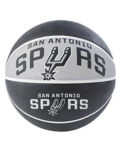 NBA San Antonio Spurs NBA Courtside Team Outdoor Gummi Basketballteam Logo, schwarz, 74,9cm