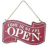 Open Closed Cartello, Cartello Doppio Lato da Appendere,Cartello di Legno Targhette per Porte Cartello Pensile Bifacciale per Negozio Caffè Ristorante Pub Bar
