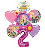 Mayflower Tinkerbell 2nd Birthday Party Supplies Flower Cluster Balloon Bouquet Decorations