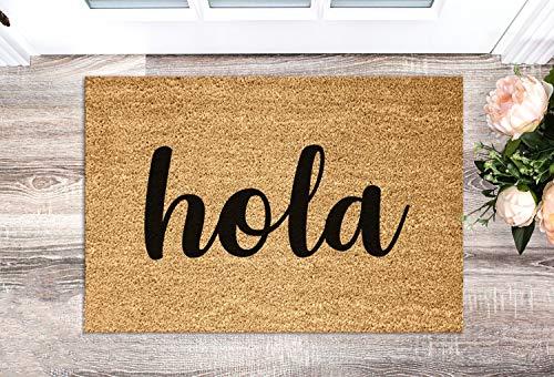 Yor242len Hola welkom deurmat welkom tapijt grappige deurmat deurmat citaat Spaanse deurmat grappige housewarming cadeau huisdecoratie