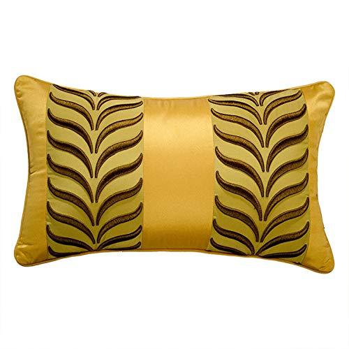 QMZ Fundas de Cojines Funda de Almohada de Cintura de Oreja de Trigo Bordada Tridimensional Funda de Almohada de Abrazo (sin núcleo) decoración de sofá Moderna Funda de Almohada de Microfibra