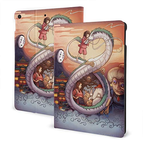 Spirited Away Ogino Chihiro Dragon Case Fit iPad 7 th 10.2 Inch Case with Auto Sleep/Wake Ultra Slim Lightweight Stand Leather Case
