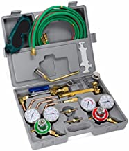 XtremepowerUS Premium Oxy Acetylene Welding Cutting Torch Kit Oxygen Brazing Professional Set Carrying Case