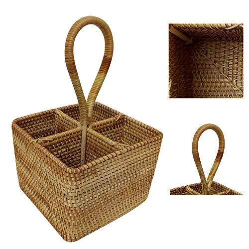 HJWXY - Caja de almacenamiento de mimbre a mano, botella multifuncional, vino rojo, mesa de té, cestas de almacenamiento para juguetes, papelería, juguetes, estantería, cesta