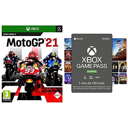 Koch Media MotoGP 21 XSRX ESP + Microsoft Suscripción Xbox Game Pass Ultimate 1 Mes   Xbox/Win 10 PC Código de descarga