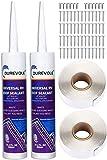 Durevole RV Repair Caulking Self-Leveling Lap Sealant Instrallation Kit - Sealants, Butyl Tapes, Screws - White