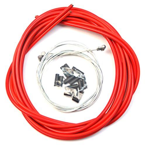 VORCOOL Cable de freno de bicicleta bicicletas universales Accesorios de repuesto de cable de cambio de carretera (rojo)