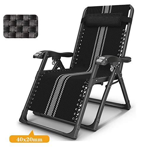 ZJJY L121XQ Zonneligstoel, inklapbaar, relaxstoel, tuinstoel, schommelstoel, balkonstoel, ligstoel, campingstoel, zonnebed, hoge saunaligstoel, zwart,