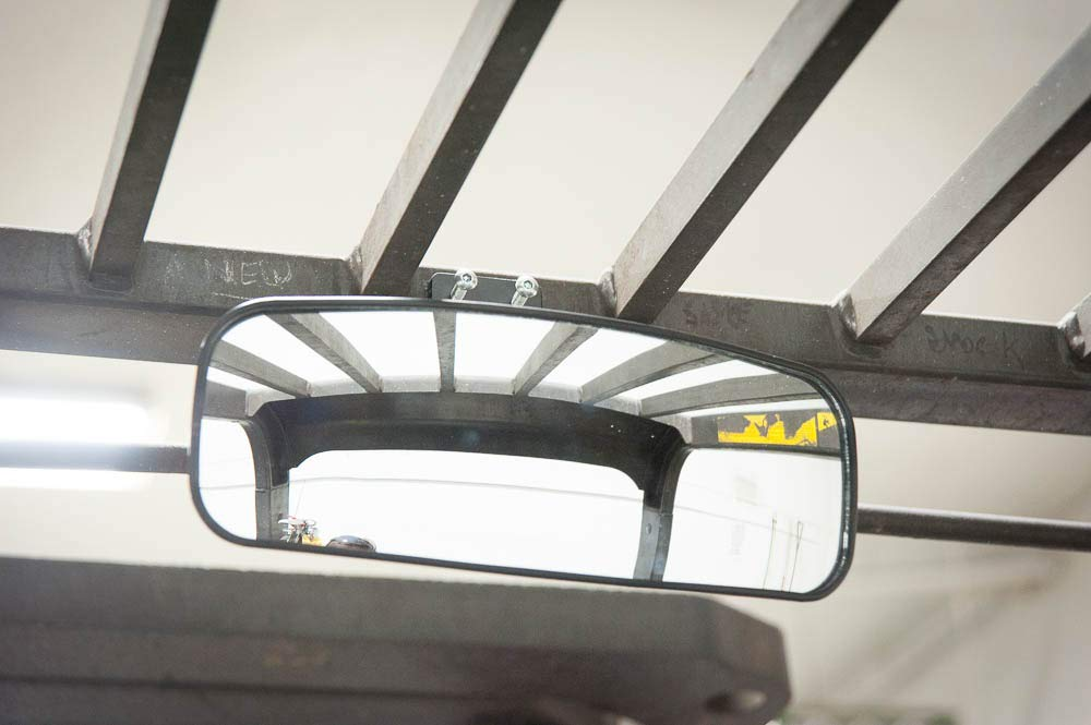 Deluxe Rear View Mirror for Forklifts Fits 16