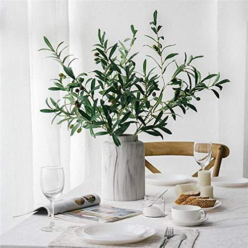 display081PC Artificiale Ramo d' ulivo con Frutta Home Decor Falso pianta Fotografia Puntelli Multi