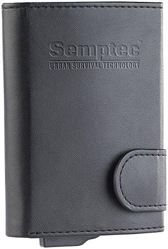 Semptec Urban Survival Technology Kartenetui mit Geldfach: RFID-Kartenetui im Kunstleder-Geldbeutel, Schutz für EC-Karten u.v.m (Kreditkartenetui mit Geldfach)