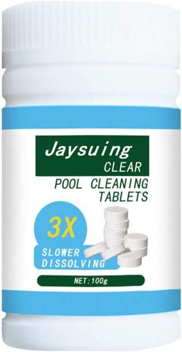 Urisgo Pastillas para la limpieza de pastillas para la limpieza de desinfectantes para piscina y spa, 100 unidades