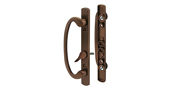 """3-15//16/"""" Mounting Holes For Right- or Left-Handed Doors Bronze Plated Slide-Co 144096 Mortise-Style Sliding Door Handle Set Replace Old or Damaged Door Handles Quickly and Easily"""